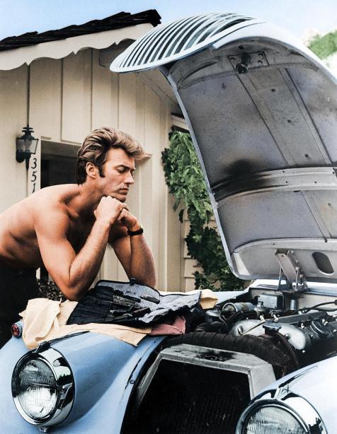 Clint Eastwood trabajando en 1960, por malakon