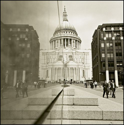 A reflection of Saint Pauls