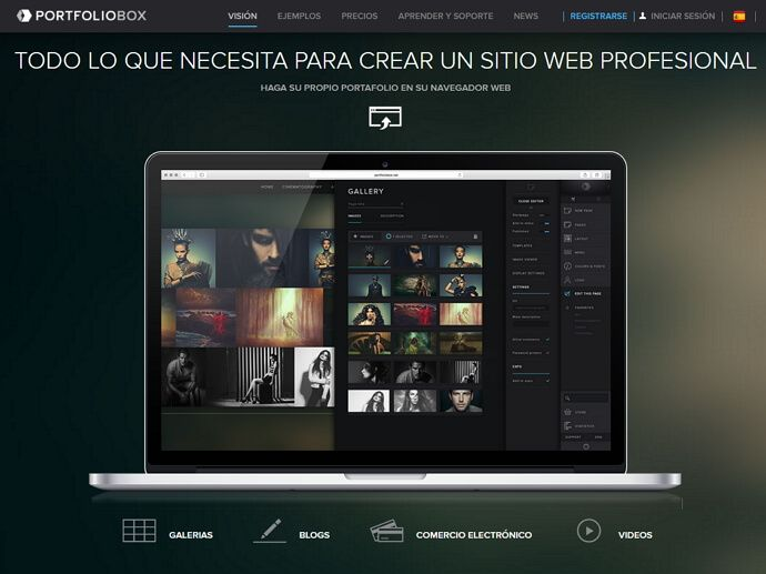 portfoliobox para un sitio web profesional