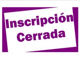 inscripcion cerrada