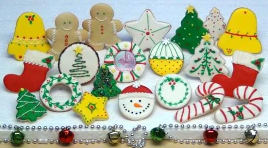 Imagenes De Galletas De Navidad Decoradas.Galletas De Navidad Decoradas Con Royal Icing O Glass Club