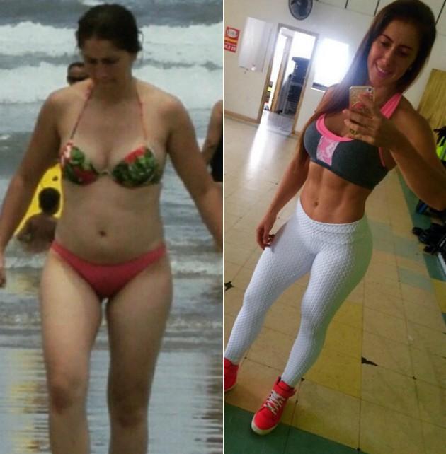 REPRODUÇÃO/INSTAGRAM Alessandra conseguiu secar e definir principalmente com dieta regrada e treino pesado