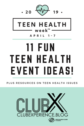 Teen Health Week pin