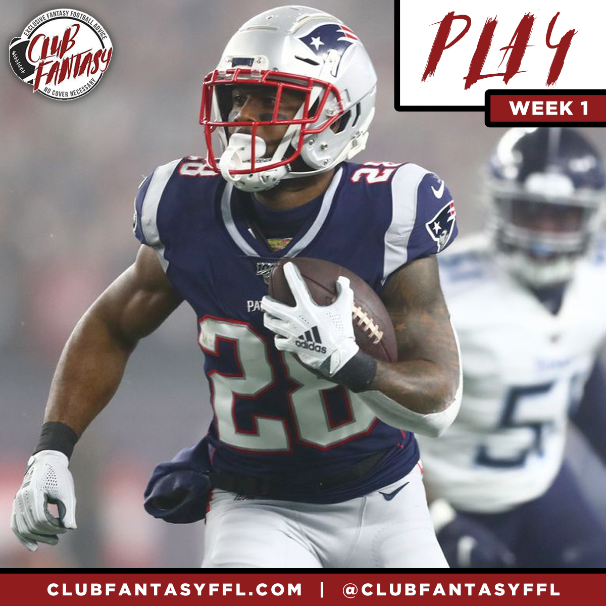 week 1 confidence plays james white fantasy football