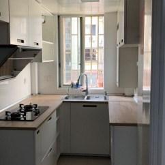 Ikea Kitchen Remodel Collectibles 有人用过宜家的厨房改造吗 篱笆社区手机版 我家厨房很小的 但是为了储物还是做了u型 左60宽 右40宽 这个门板和台面跟宜家一款样板房一样的 拍照的时候除了几块门板缺货没装 基本就是完成体