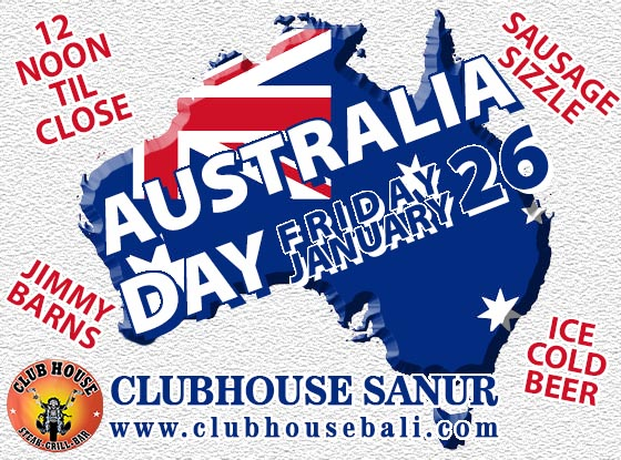 Enjoy Australia Day Clubhouse Sanur Bali