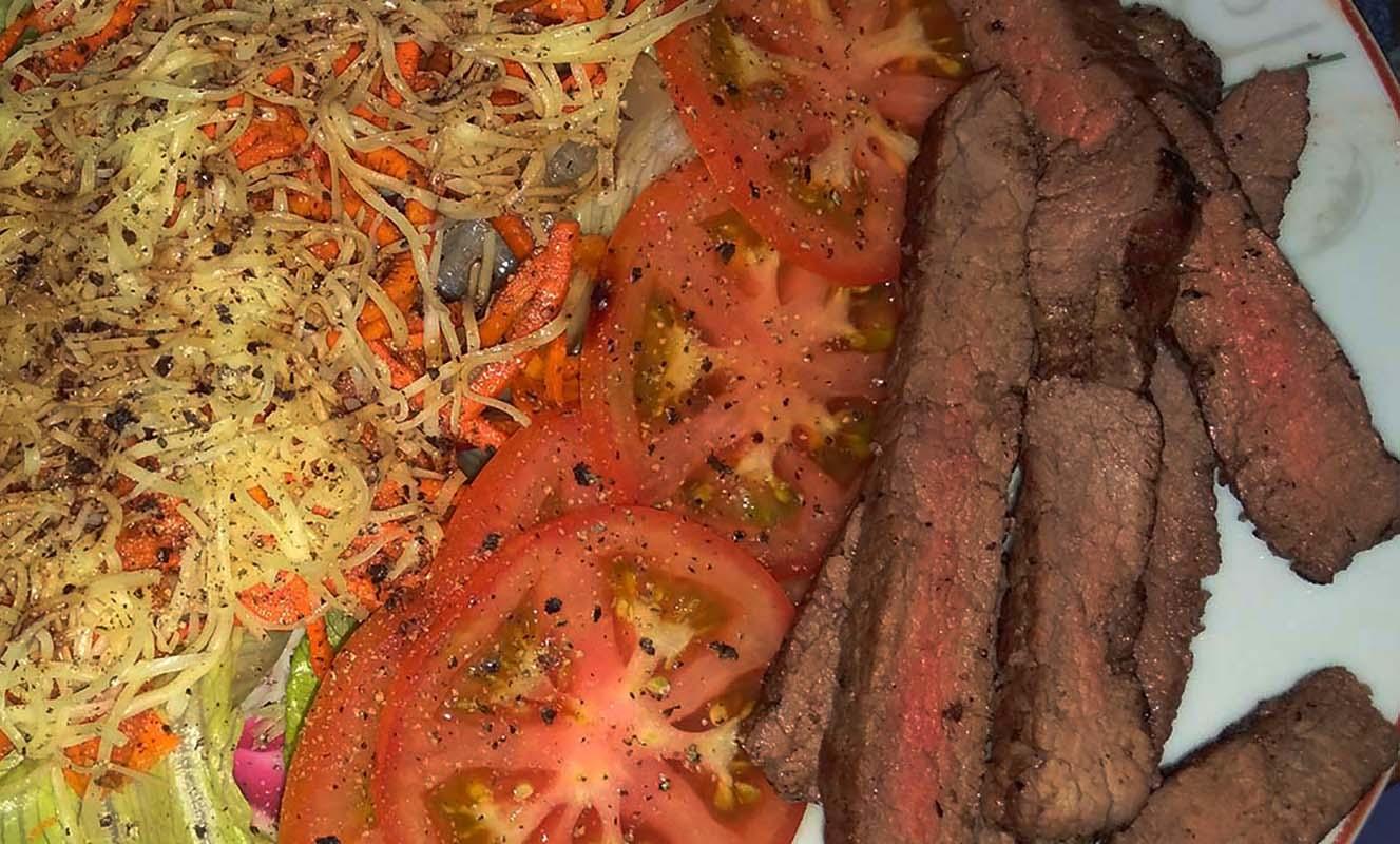 Clubhouse Steak Bar Grill Sanur Bali 250 gram Steak Salad Meal 2