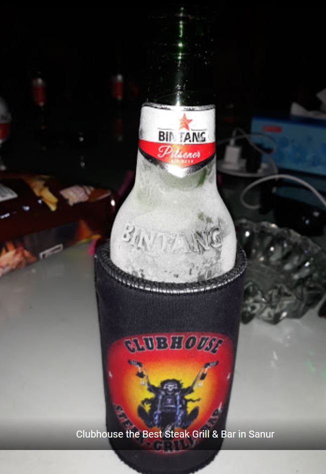 Ice Cold Beer at the Clubhouse Steak Bar and Grill Sanur Bali