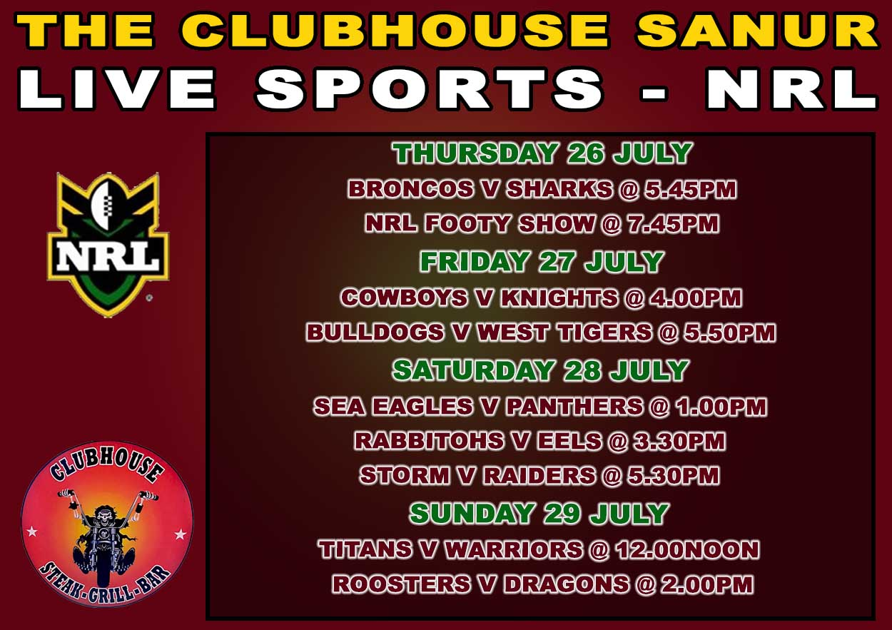 Clubhouse Sanur Sports NRL Rugby