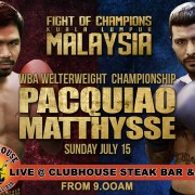 Pacquiao v Matthysse Live Malaysia Clubhouse Steak Bar & Grill Sanur