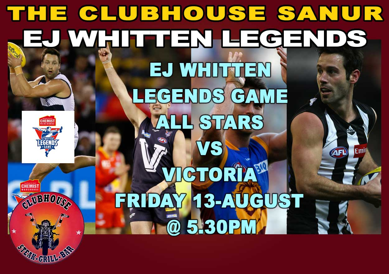 Clubhouse Sanur Sports EJ Whitten Legends Game