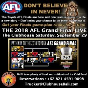 2018 AFL Grand Final Clubhouse Steak Grill Bar Sanur