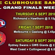 CLUBHOUSE STEAK BAR & GRILL AFL GRAND FINALS WEEK 1