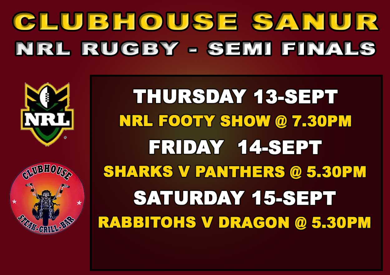 Clubhouse Sanur The Place to be for LIVE SPORTS in BALI - NRL Finals