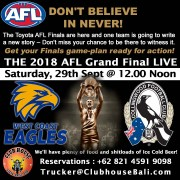 Where to watch the AFL Grand Final in Bali Clubhouse Sanur