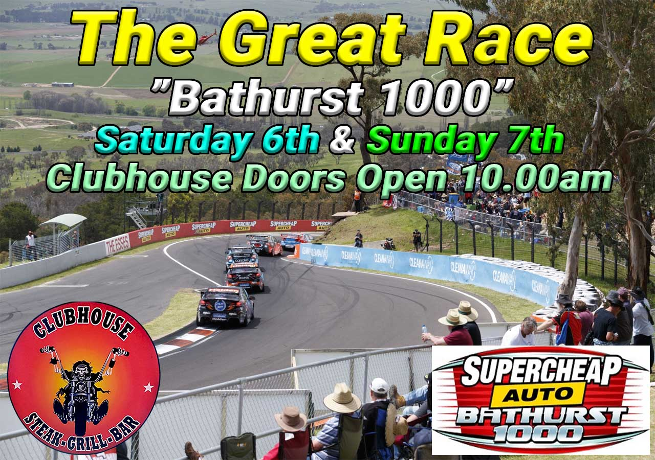 Where to watch Bathurst 1000 Live Clubhouse Steak Grill & Bar Sanur