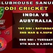 Clubhouse Steak Grill Bar CRICKET ODI India Australia