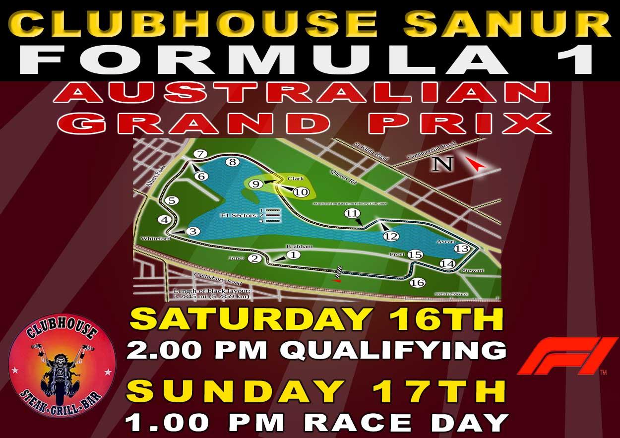 Clubhouse Sports Formula 1 Australian Grand Prix