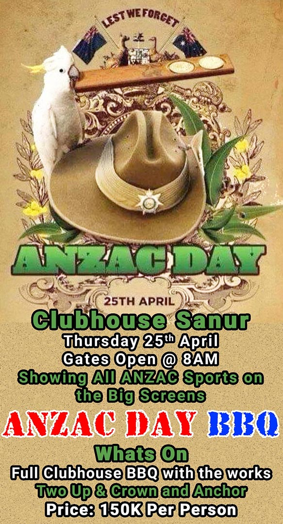 Clubhouse ANZAC DAY BBQ 2019