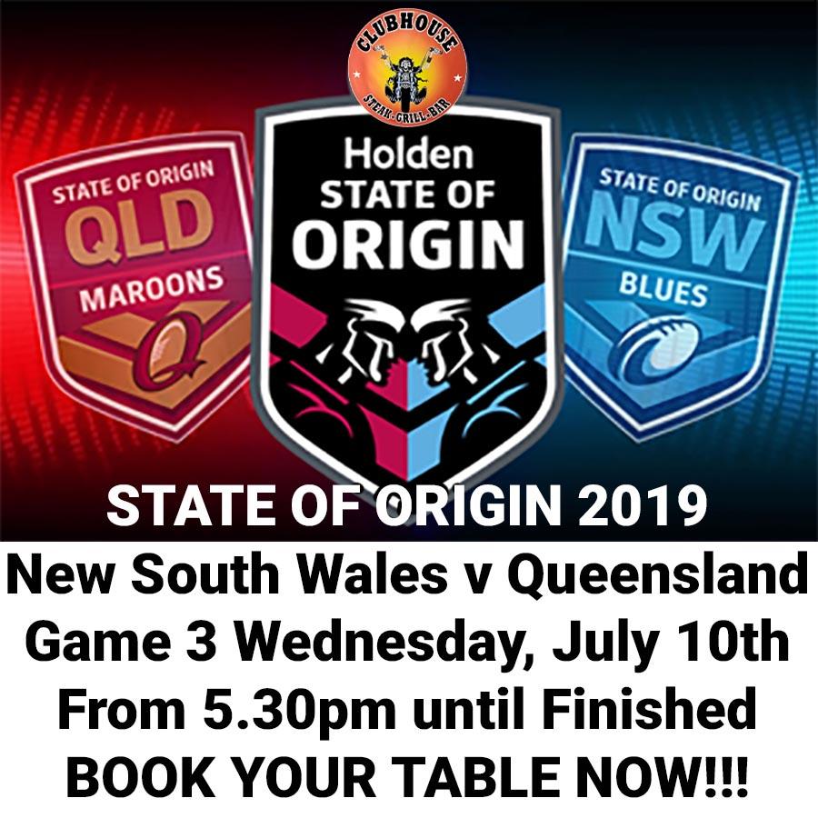 STATE OF ORIGIN 2019 Game 3