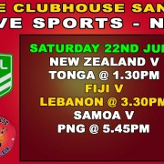 The Clubhoujse Sanur Presents NRL RUGBY TEST MATCH Live in Bali