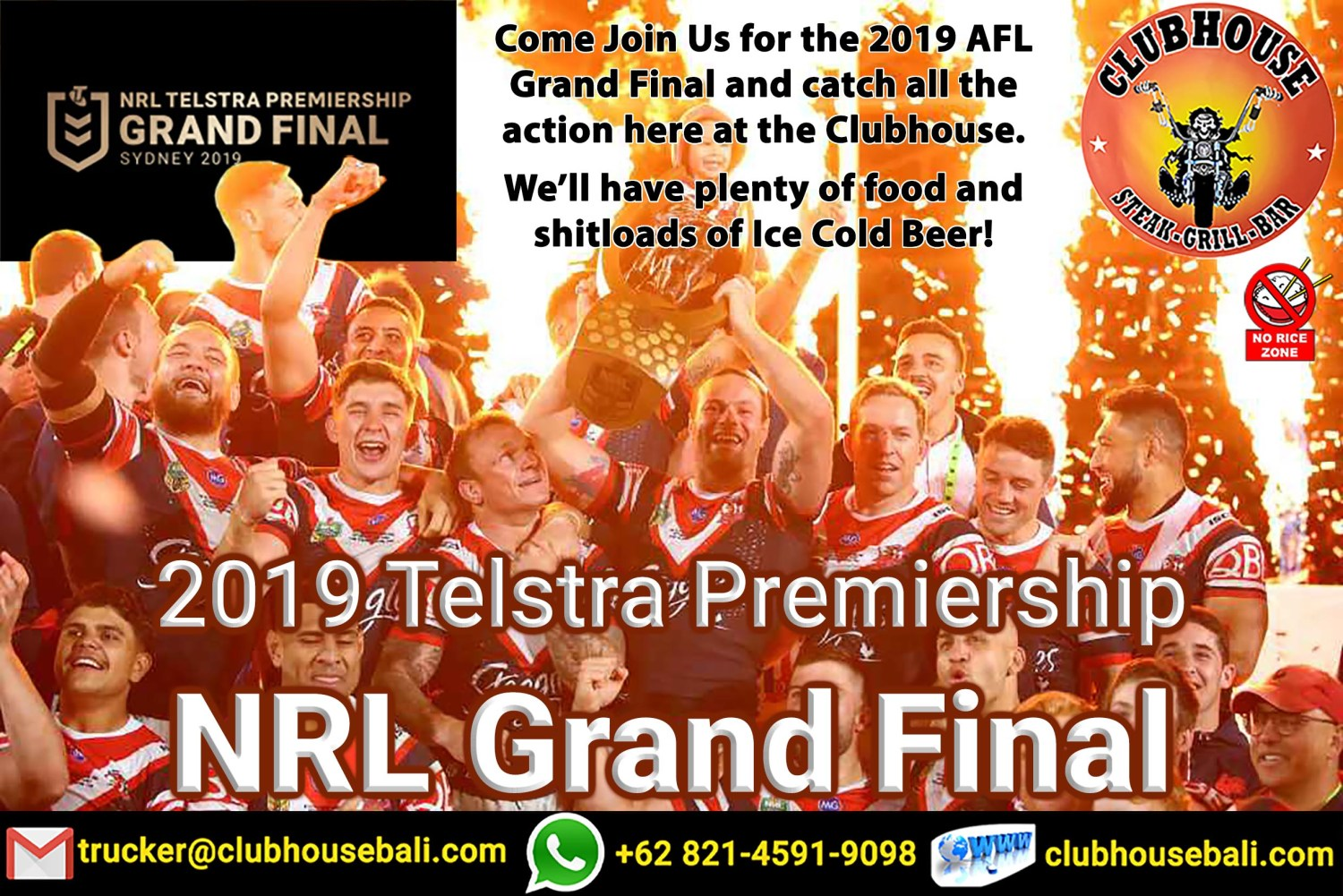NRL Grand Final 2019 Live Clubhouse Sanur Bali