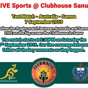 Live Sports Rugby Test Match Clubhouse Sanur Bali