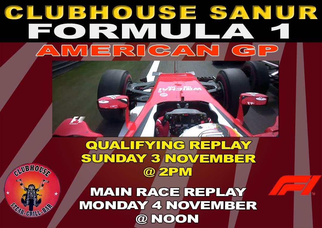 Clubhouse Sports Presents Formula 1 American Grand Prix
