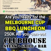 Are you ready for the Melbourne Cup 2019 BBQ Luncheon