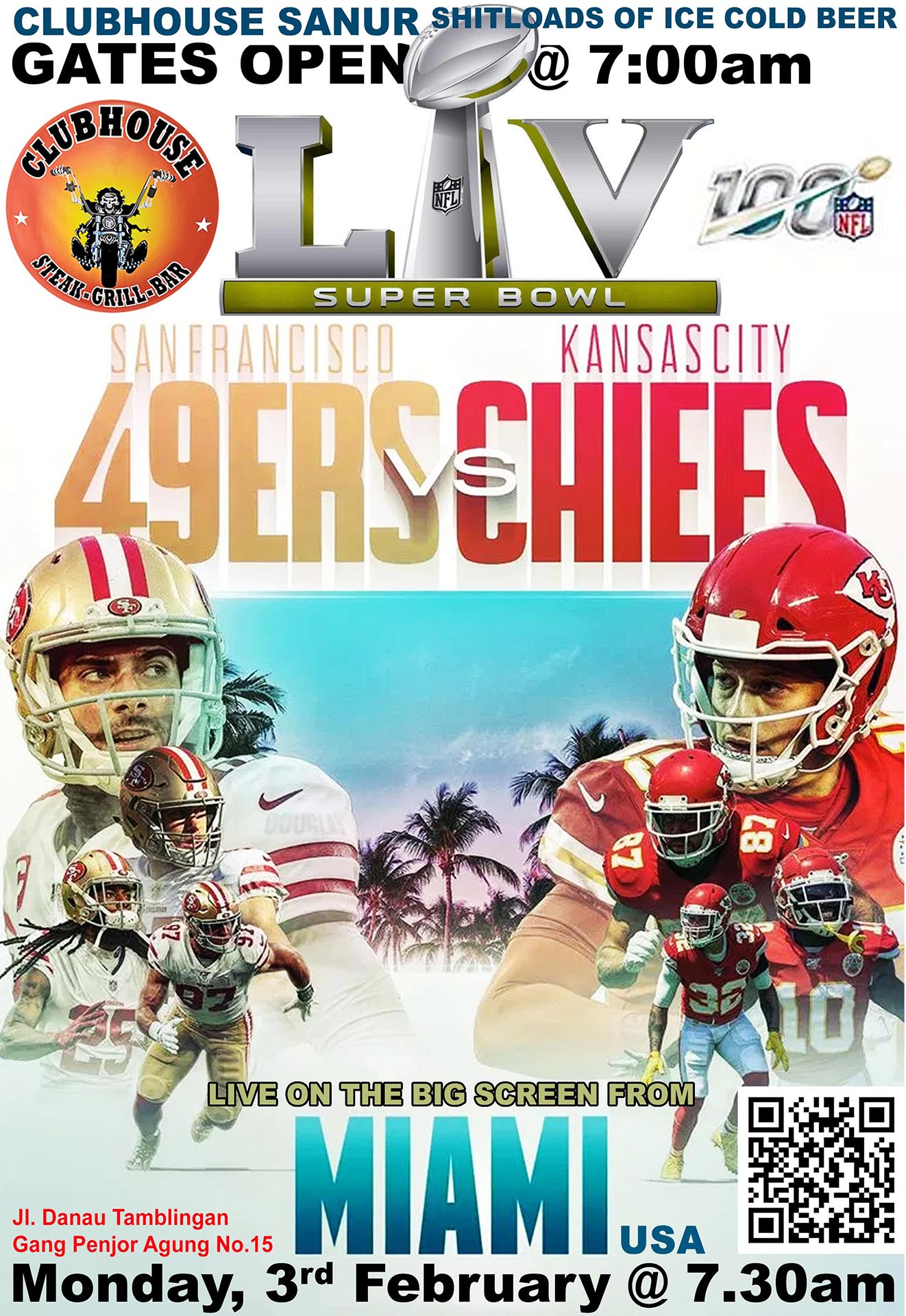 Super Bowl LIV Clubhouse Sanur Feb 2020 49ers vs Chiefs
