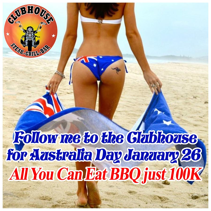Clubhouse Sanur Place to be for Australia Day 2021