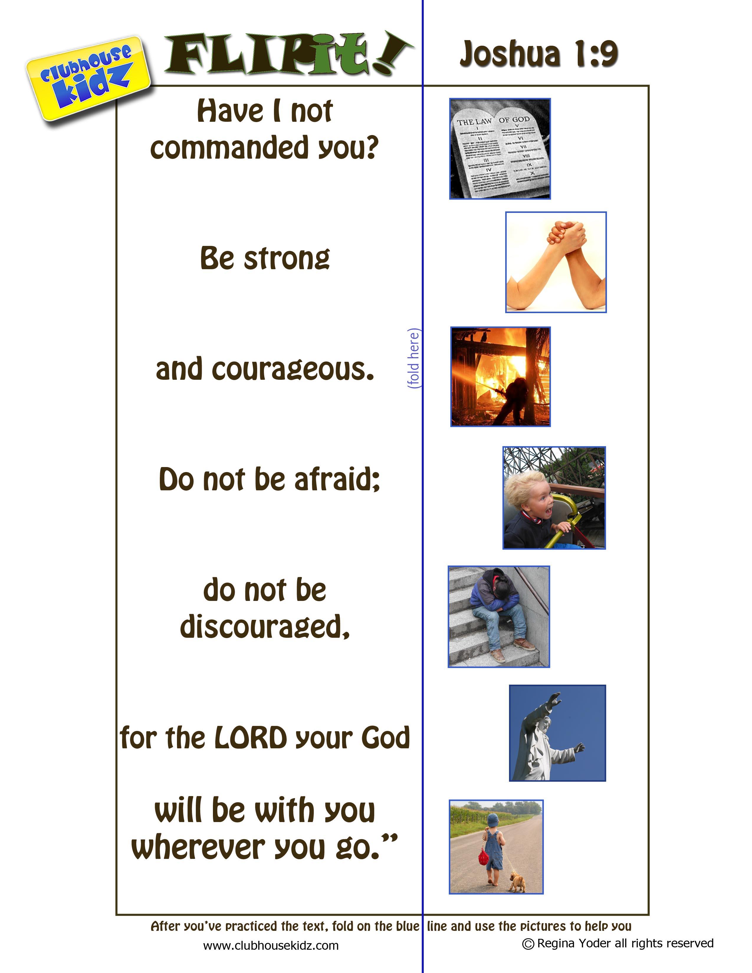 Flipit For Joshua 1 9