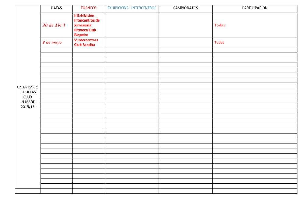 Calendario-ESCUELASCLUBINMARE-evento-y-competiciones-2015-16-1