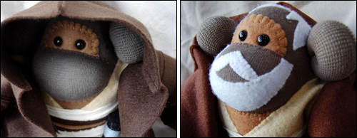 IMAGE: Obi-Wan sock monkeys by Siansburys @ Etsy