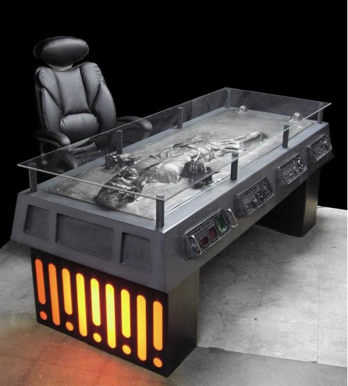 IMAGe: Han in Carbonite desk by Tom Spina Designs