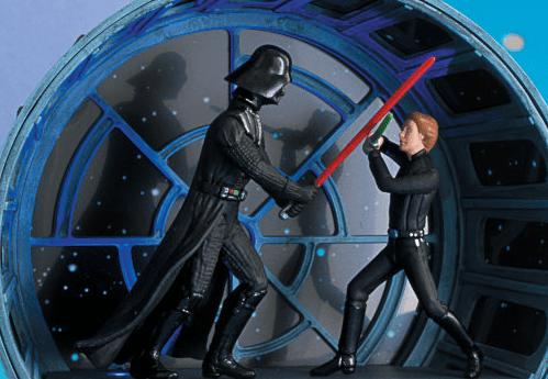 Hallmark\'s Luke & Vader ornament