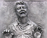George Lucas in Carbonite @ Celebration Japan (Bonnie Burton / StarWars.com)