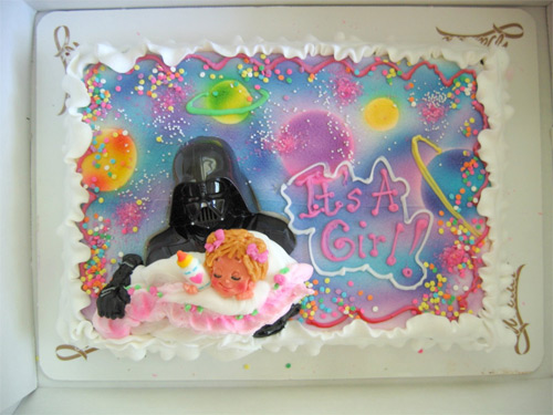 Darth Vader baby cake by Woullet Bakery