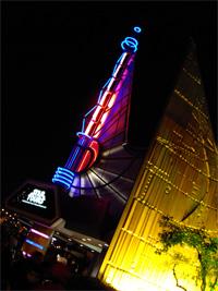 Star Tours at night by Loren Javier @ Flickr