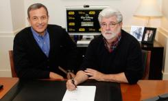 Bob Iger and George Lucas