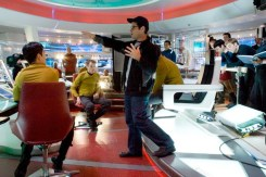 J. J. Abrams on the set of Star Trek