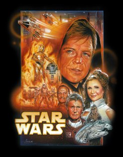 Fan art: Episode VII poster by Adam Schickling