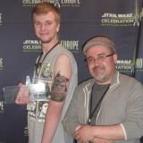 Pablo Hidalgo and the Tattoo Contest winner