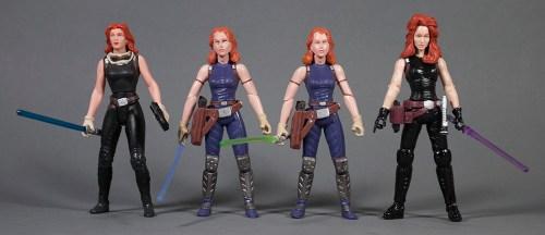 Mara Jade figures from 1998, 2007 and 2013 (Yakface.com)