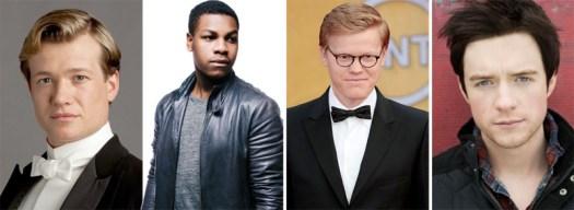 Four Episode VII contenders, per Variety: Ed Speleers, John Boyega, Jesse Plemons, and Matthew James Thomas