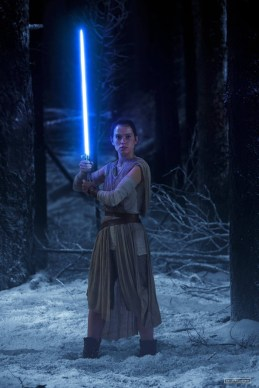 Rey and lightsaber
