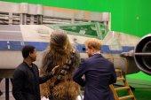 @KensingtonRoyal: Prince Harry, Chewbacca and @JohnBoyega compare outfits @PinewoodStudios