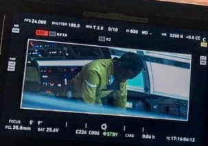 realronhowardlining: up a shot today from my director's monitor. (Close up)