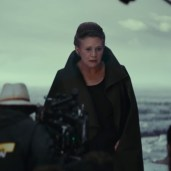 Leia and Rey (TLJ BTS)