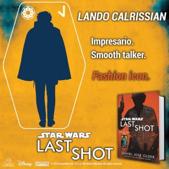 First up, obviously, is the slick talking jack-of-all-trades and wearer-of-all-capes: Lando Calrissian. #LastShot #MeetTheCrew